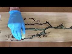 Wood burning with 2000 volts of electricity (Lichtenberg Figures) glow in the dark