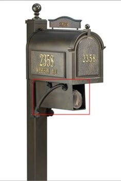 Die Cast Aluminum Newspaper Holder and Mailbox Attachment (Green) by Whitehall. $50.99. Designed and built to last a lifetime. Rust Free Die Cast Aluminum. Weather resistant powder coat finish. Easy and durable door operation. Color: Green. Provide room for mail carrier to put bulky items with this newspaper holder. Made to last a lifetime, it is crafted from die cast aluminum so it will not rust or corrode in harsh weather conditions. Choose from a variety of attract...