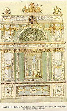 Design For an Organ Case, By Robert Adam by glen.h, via Flickr