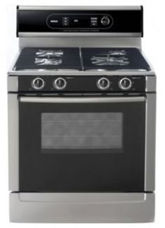Bosch 30 Inch Freestanding Gas Range With 4 Sealed Burners Sim Burner Optisim Cu Capacity Genuine European Convection Oven And Integrated