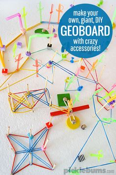 Make an easy DIY Geoboard and add some cool and crazy accessories for even more fun!
