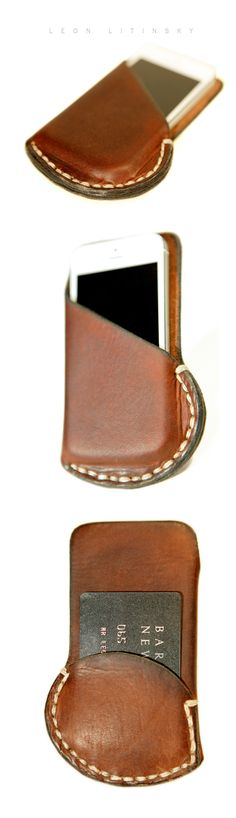 Leather iPhone 5 Case by Leon Litinsky.-SR
