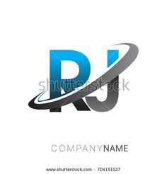 initial letter RJ logotype company name colored blue and grey swoosh design. logo design for business and company identity. Capital Letter Fonts, Letter Logo, Initials Logo, Monogram Logo, Name Design, Logo Design, Banner Background Hd, Building Logo, Words Wallpaper