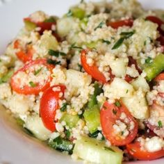 Garden Couscous. This was fab!  Won't look like the picture once balsamic is added though.