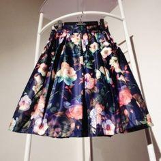 Summer New Europe And America Retro Print High Waist Pleated Skirt Blue Retro Print, Latest Fashion For Women, Pleated Skirt, High Waist, Most Beautiful, Europe, America, Stylish, Skirts