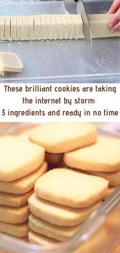 flour, butter, and sugar — these ingredients sound rather simple. Nevertheless, it's these three ingredients that are making up a simple cookie recipe that has been discovered by nearly 7 million people… and counting. Easy Cookie Recipes, Easy Desserts, Sweet Recipes, Baking Recipes, Delicious Desserts, Cake Recipes, Dessert Recipes, Yummy Food, Cookies Ingredients