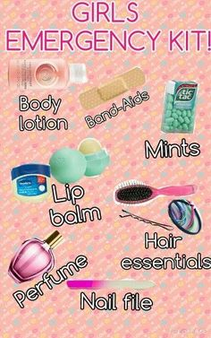 BEST GIRLS EMERGENCY KIT FOR SCHOOL WHICH DON'T ALLOW MAKEUP! It is portable for everyday use when to freshen up after gym or you just feel ugly so you can touch up!!! ^^