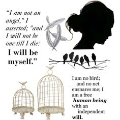 Jane Eyre quotes, created by empress-ming-ruler-of-the-galaxy on Polyvore