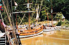 Reproduction of early English vessels at Jamestown, Virginia. Virginia, Jamestown. 1999.