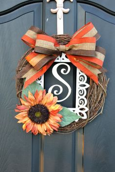 Spring Wreath  Summer Wreaths for door  Burlap by OurSentiments, $59.00