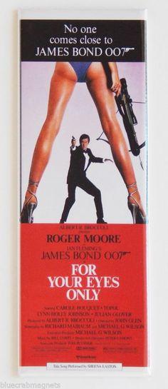 For Your Eyes Only FRIDGE MAGNET insert movie poster james bond