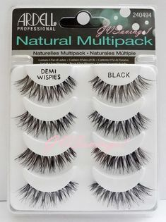 (4 Pairs) Ardell DEMI WISPIES NATURAL MULTIPACK False Eyelashes Fake Lashes Lot