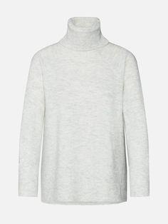 VERO MODA Svetr 'Iva Rep' - světle šedá | ABOUT YOU Models, Turtle Neck, Sweaters, Shopping, Fashion, Blouse, Templates, Moda, Fashion Styles