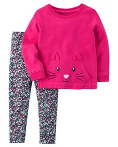 9727fc29c4b1 2-Piece Character Top   Legging Set Toddler Girls