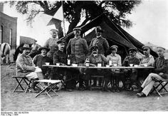 Genral Lother von Trotha, seated at center, issued commands for the extermination of the Herero in writing. Officials representing Germany have recently apologized for von Trotha's actions but they did not acknowledge the events subsequent to his departure from Namibia as acts of genocide, thereby excluding deaths in the concentration camps that resulted from the building of German Southwest Africa. 1904. Bundesarchiv.