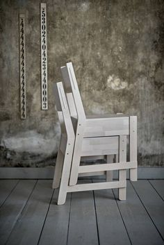 Industrial-chic chairs.