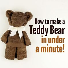 Who knew you could make a cute teddy bear with a towel?! A fun activity to try with the kids or make as a gift for a baby shower! Tag a parent to share ! #babyfirsttv