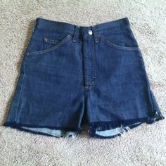 """7$ SALE>> Vintage cut off shorts Waist max is 25"""" hips max is 30"""". Vintage dark blue shorts in great condition. They are very small and probably for a youth size or very slim petit figure. Vintage Shorts"""