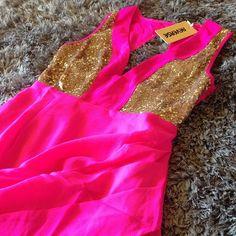 Pink Sparkly Dress<3
