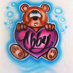 11 best my airbrush shirts images on pinterest airbrush designs bear with heart airbrush shirt solutioingenieria Gallery
