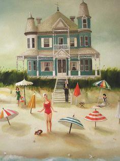 Quicksand Art Print by Janet Hill - X-Small Janet Hill, Illustrations, Illustration Art, Studios D'art, Large Prints, Fine Art Prints, Naive Art, Colorful Paintings, Vintage Paintings