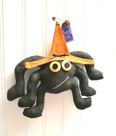 Items similar to Primitive Halloween Grungy Spider Witch ~ Halloween Party decoration ~ Fall Door hanging ~ Black Painted Fabric Spider Witch ~ Handcrafted on Etsy Halloween Table Decorations, Halloween Party Decor, Bunny And Bear, Woodland Nursery Decor, Baby Deer, Animal Nursery, Vintage Easter, Fabric Painting, Crafts To Make