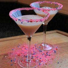 A New Year's Eve drink to start the party - Confetti Martini