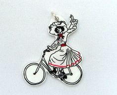 "pendant ""bicycle"" of Atelier Spunk at DaWanda.com"