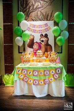 Оформление дня рождения в стиле Маша и Медведь