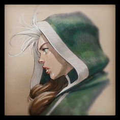 #Rogue #XMen #Supanova #convention #sketch #art #illustration #Yardin