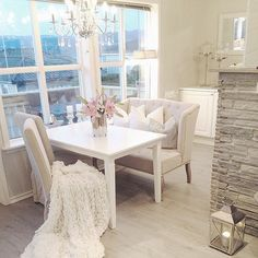 girly kitchen seating