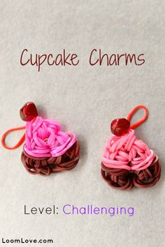 How to Make a Cupcake Charm - loomlove.com