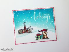 Lawn Fawn Ready Set Snow & Toboggan Together Christmas card by Melissa Bowden