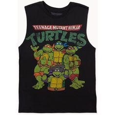 FOREVER 21 Teenage Mutant Ninja Turtles® Muscle Tee ($13) ❤ liked on Polyvore featuring tops, shirts, tank tops, t-shirts, forever 21 shirts, muscle tshirt, forever 21 tank, forever 21 and forever 21 tops
