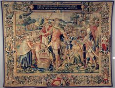 """Chrysler Museum of Art - After """"The History of Hannibal: The Spoils of Canna"""", tapestry attributed to Flemish artist Francois Geubels."""