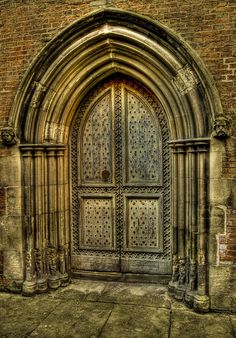 Amazing door....like the faces on either side