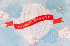 Boy's Hot Air Balloon First Birthday Party Backdrop Ideas