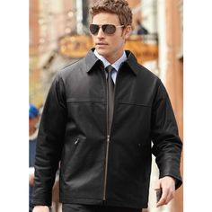 Printed Men's North End (R) Classic Leather Jacket
