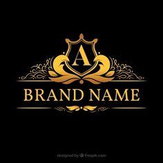 Логотип монограммы с золотой буквой «a»