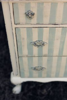 Fun Painted Striped Chest