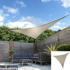 A simple but thorough guide to installing your shade sail. Plan where it will go, how to prepare the area, easily set up the sail and care for it. Triangle Shade Sail, Sun Sail Shade, Shade Sails, Modern Landscaping, Backyard Landscaping, Backyard Patio, Backyard Ideas, Patio Sails, Garden Sail