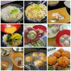 Las bolas de arroz se pueden preparar para aprovechar restos de arroz de un plato del día anterior. Permite casi cualquier tipo de relleno.