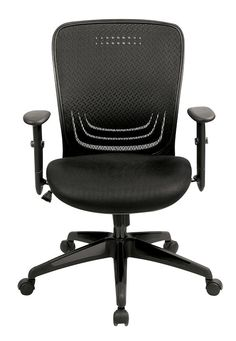 High-Back Mesh Office Chair with Adjustable Arm