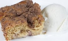 """Rhubarb Coffee Cake Laura Karren Glasgow, Issaquah from KCTS 9 Cooks Every Day  """"... smell of this baking cake will get your sleepyheads out of bed or get your picky eaters to finish their dinner to earn dessert. This coffee cake is unique in that it uses almost all whole grains and yet is light and tender."""""""