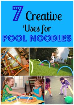 Ways to reuse pool noodles for active playtime fun!
