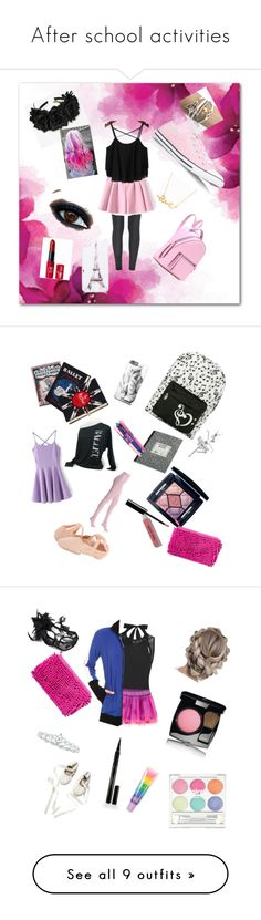 """""""After school activities"""" by rose-s-b on Polyvore featuring The Row, Converse, Fendi, Cotton Candy, Minnie Grace, Forever New, Bobbi Brown Cosmetics, Olympia Le-Tan, Hue and Bloch"""