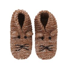 Dog Slippers by Cath Kidston - new slippers are a must at Christmas time Bunny Slippers, Cute Slippers, Kids Slippers, Knitted Slippers, Slipper Socks, Knitting For Kids, Baby Knitting Patterns, Knitting Yarn, Baby Girl Fashion