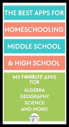 These apps are the best resources to support your learning and research for algrebra, geography, science, and more! They are great for middle school and high school learning needs. Give some of them a try for enrichment and learning. High School Apps, High School Science, School Tips, School Hacks, Public School, School Ideas, Homeschool Apps, Homeschool High School, Elementary Schools