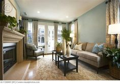Blue Living Room Color Schemes | Blue living room--love this color scheme | For the Home