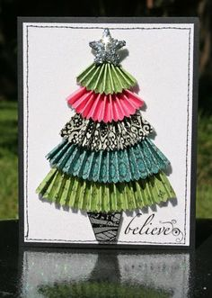Creatively Savvy: Believe Card - easy idea for a tree